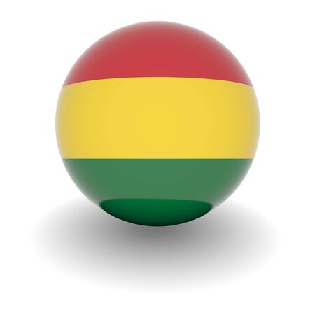 3D Ball with Flag of Bolivia. High resolution 3d render isolated on white. photo