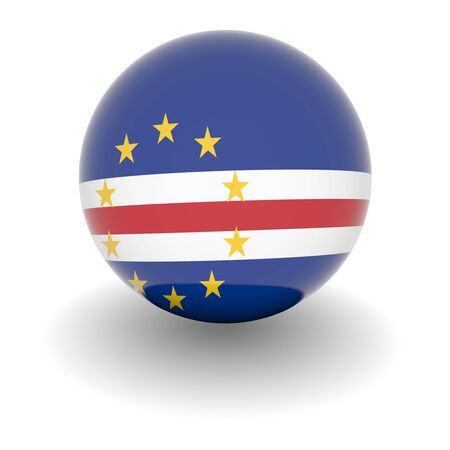 cape verde: 3D Ball with Flag of Cape Verde. High resolution 3d render isolated on white.