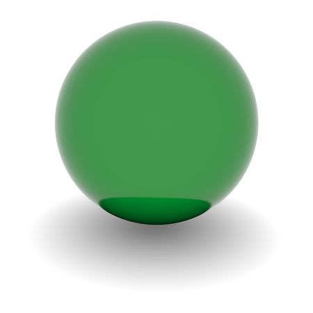 lybia: 3D Ball with Flag of Lybia. High resolution 3d render isolated on white.