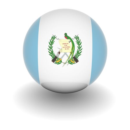 guatemala: 3D Ball with Flag of Guatemala. High resolution 3d render isolated on white. Stock Photo