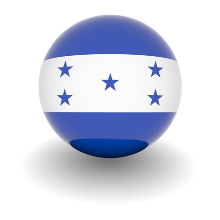 honduras: 3D Ball with Flag of Honduras. High resolution 3d render isolated on white.