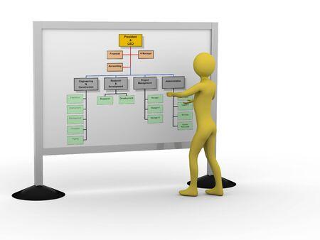 Businessman showing diagram. High resolution 3D render Stock Photo - 5673440