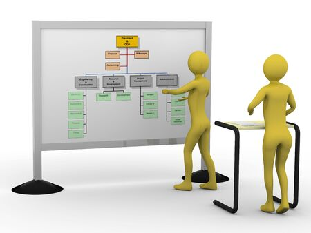 Businessman presenting diagramm. High resolution 3D render Stock Photo - 5673464