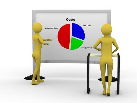 Businessman showing pie chart. High resolution 3D render Stock Photo - 5673468