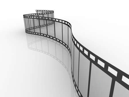 Empty film strip. High resolution render isolated on white