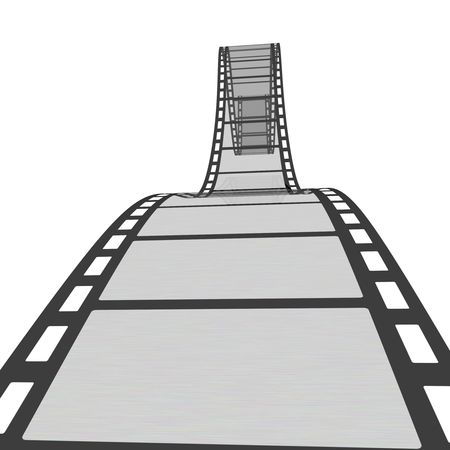 Empty film strip. High resolution render isolated on white photo