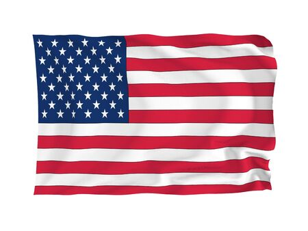 USA. High resolution Flag series. With fabric texture. photo