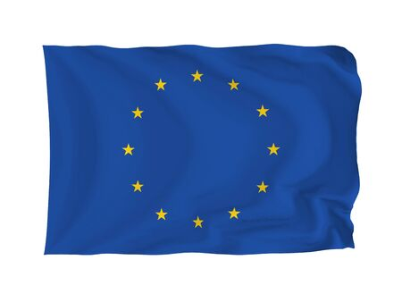European Union. High resolution Flag series. With fabric texture. Stock Photo - 5793675