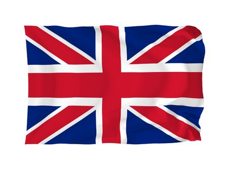 United Kingdom. High resolution Flag series. With fabric texture. photo