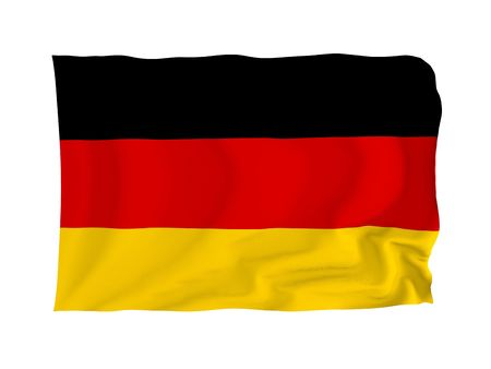 Germany. High resolution Flag series. With fabric texture. Stock Photo - 5793672