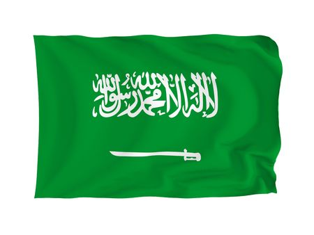Saudi Arabia. High resolution Flag series. With fabric texture. Stock Photo - 5793671