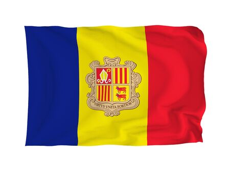 Andorra. High resolution Flag series. With fabric texture. photo
