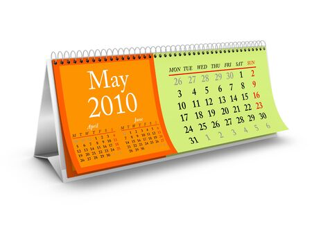 May 2010. Desktop Calendar Series. More pages available. Stock Photo - 5793644