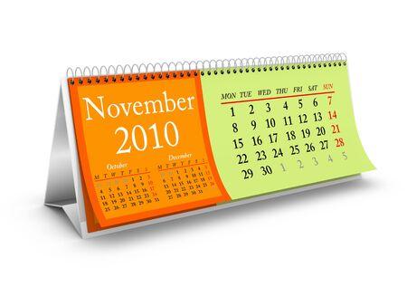 November 2010. Desktop Calendar Series. More pages available. photo