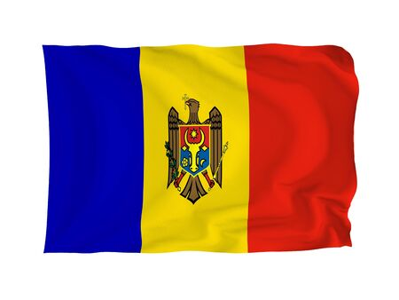 Moldova. High resolution European Flag series. With fabric texture. photo