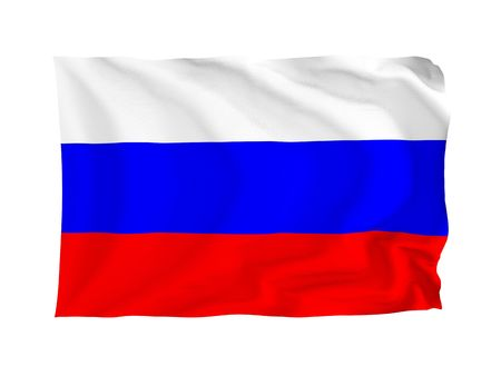 Russia. High resolution European Flag series. With fabric texture. Stock Photo - 5855967