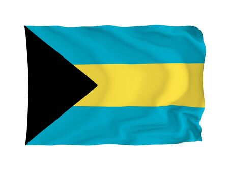 americas: Bahamas. High resolution Americas Flag series. With fabric texture.