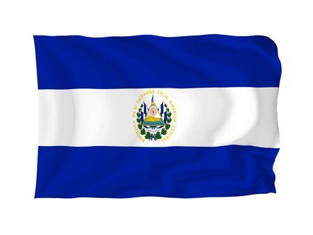 el salvador flag: El Salvador. High resolution North American Flag series. With fabric texture.