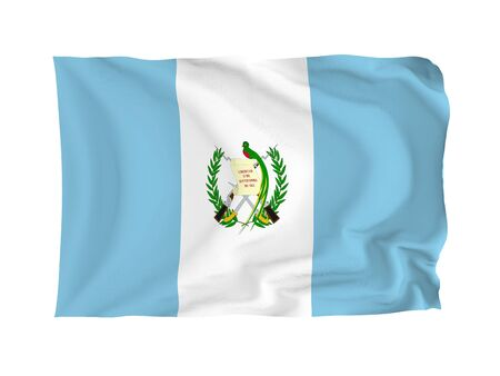 Guatemala. High resolution North American Flag series. With fabric texture. photo