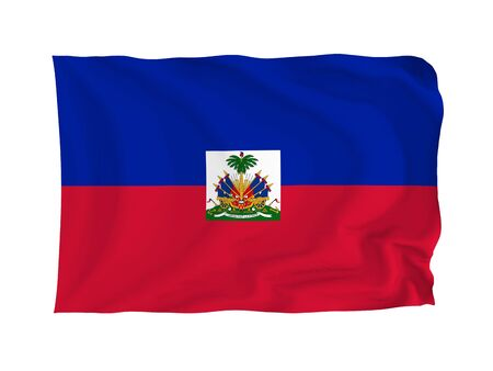 Haiti. High resolution North American Flag series. With fabric texture.