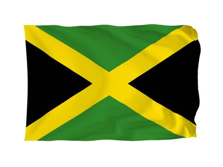Jamaica. High resolution Americas Flag series. With fabric texture. photo