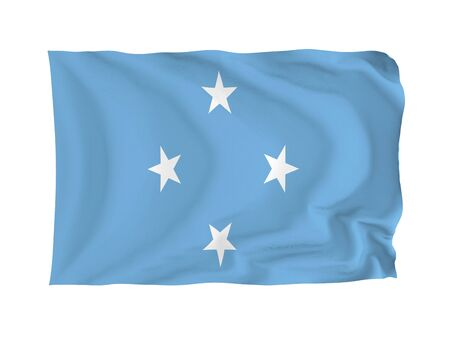 oceania: Federal states of Micronesia. High resolution Oceania Flag series. With fabric texture.