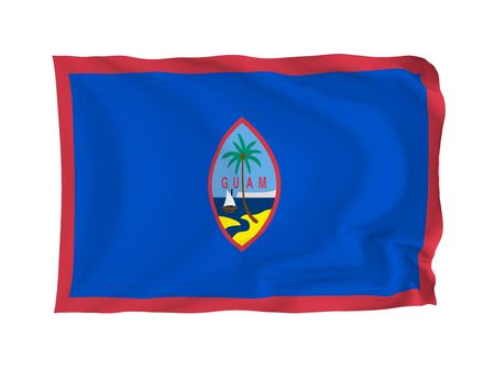 Guam. High resolution Oceania Flag series. With fabric texture. Stock Photo