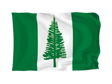 oceania: Norfolk Island. High resolution Oceania Flag series. With fabric texture.