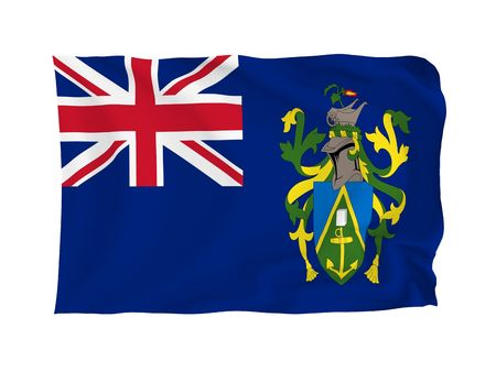 oceania: Pitcairn Islands. High resolution Oceania Flag series. With fabric texture.