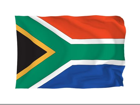 South Africa. High resolution African Flag series. With fabric texture. photo
