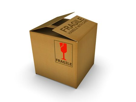 packer: Isolated cardboard. High resolution image with detailed texture.