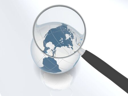 Magnification concept. Magnifying glass over North America Stock Photo - 6686650
