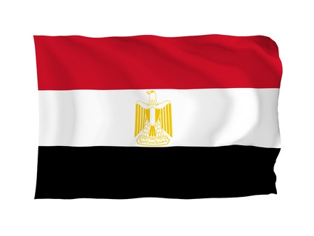 Egypt. High resolution African Flag series. With fabric texture. photo