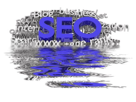 Search engine optimization. Conceptual image with keyword cloud around SEO letters. Stock Photo - 7434561