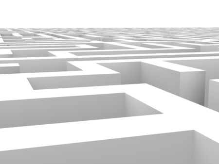 senseless: View to a endless labyrinth. Conceptual image good for senseless, challenge, impossible or puzzle themes. Stock Photo