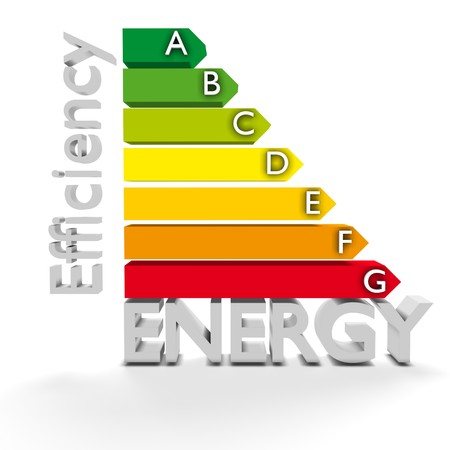 High resolution 3D European Union Energy Label for efficiency classification. Conceptual render for environment protection, conservation of resources and Energy or Power themes Stock Photo - 8145255