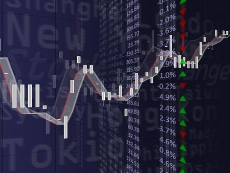 bolsa de valores: Imagen de alta resoluci�n de un gr�fico financiero. Imagen conceptual de bolsa, las finanzas y datos.