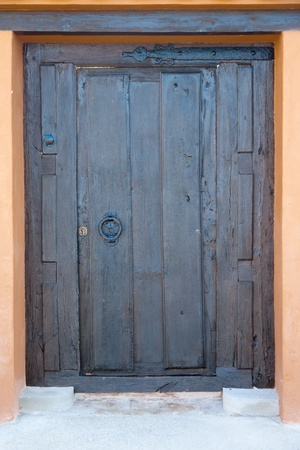 High resolution image of an old wooden door. photo