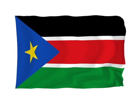 established: High resolution Image of the national flag of the Republic of South Sudan in Africa. Established 9. July 2011