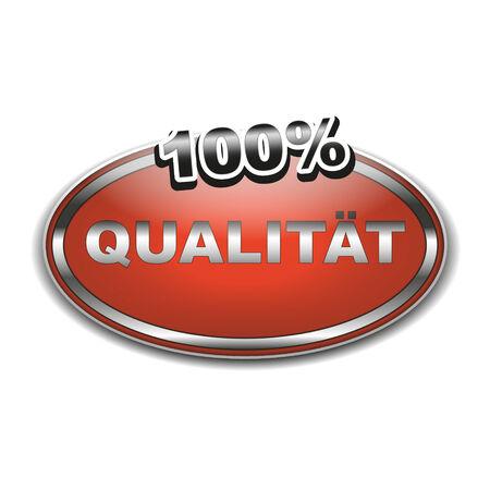 rotting: 100  Qualität Symbol als Aufkleber oder Siegel Illustration