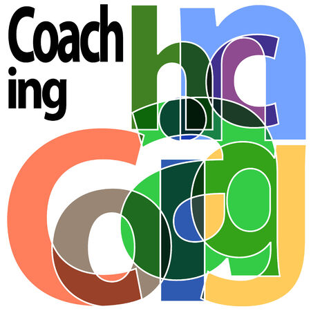 coaching: Coaching lettres simples Illustration