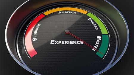 master: Master concept with tachometer gauge. Render image