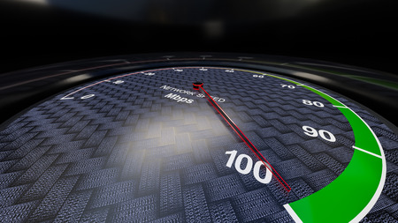 internet  broadband: Internet speed with tachometer gauge. Render image