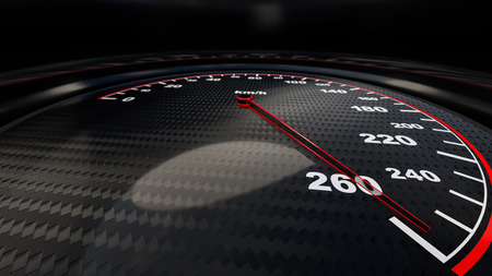 Speed gauge illustration for motion or power concepts. Render image
