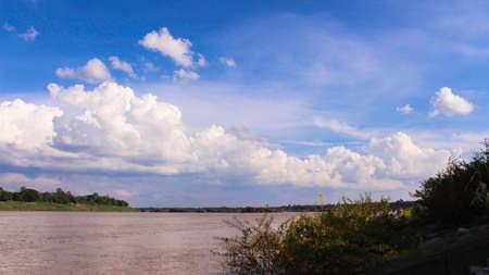 mekong: Views River Mekong Stock Photo