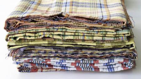 articulos de ba�o: Art�culos de higiene Tela Foto de archivo