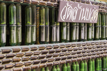 temple thailand: Temple Thailand Made Empty Bottles