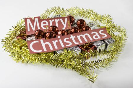 christmas gift: Merry christmas gift Stock Photo