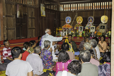 mingle: Ubonratchathani,THAILAND Jan 10 :Religious ceremonies and ordination of men to a monk of Thailand Isaan.Thailand on Jan 10, 2015 Editorial