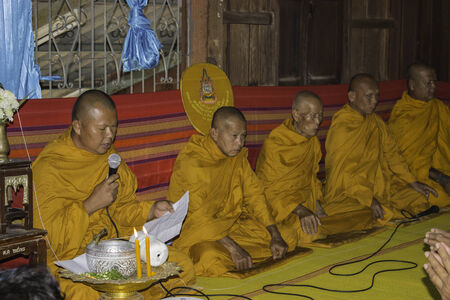 ordination: Ubonratchathani,THAILAND Jan 10 :Religious ceremonies and ordination of men to a monk of Thailand Isaan.Thailand on Jan 10, 2015 Editorial